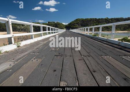 Wooden Road bridge - Stock Photo