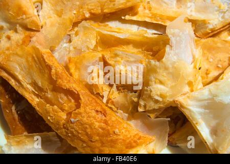 Savory Puff Pastry Bites (Khari Biscuit) - Poor man's breakfast in India. - Stock Photo
