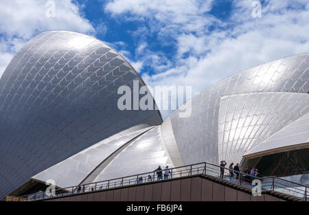 Australia, Sydney, architectural detail of the Opera House - Stock Photo