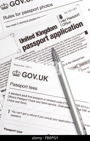 Uk Passport Application Form Stock Photo   Alamy