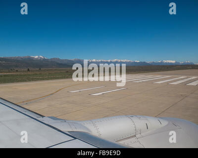 Landing in San Carlos de Bariloche (commonly called Bariloche), in Argentina's Alta Patagonia - Stock Photo