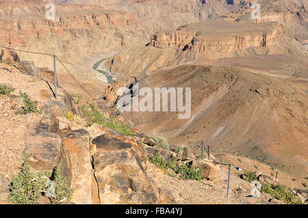 Start of the five day hiking trail in Fish River Canyon, Near Hobas, Namibia - Stockfoto