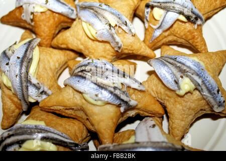 Anchovy appetizer stock photo royalty free image for Puff pastry canape