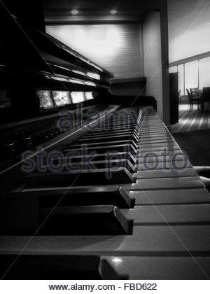 Detail Shot Of Piano Keys - Stockfoto