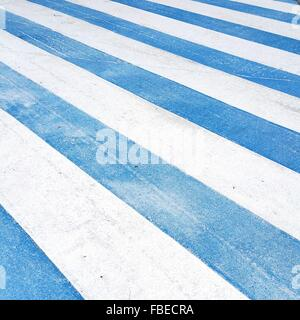 Full Frame Shot Of Zebra Crossing - Stock Photo