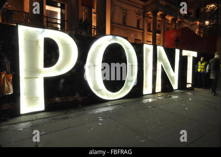 London, UK. 15th Jan, 2016. Lumiere London Festival centre point Credit:  Sophie Tagg/Alamy Live News - Stock Photo