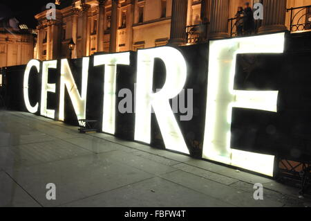 London, UK. 15th Jan, 2016. Lumiere London Festival Credit:  Sophie Tagg/Alamy Live News - Stock Photo