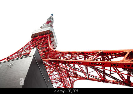 tokyo tower from the bottom - morning light - Stock Photo