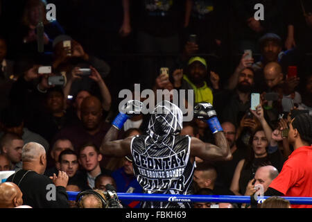 Brooklyn, New York City, USA. 16th Jan, 2016. Deontay Wilder (USA) Boxing : Deontay Wilder of the United States - Stock Photo