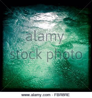 Full Frame Shot Of Bubbles In Sea - Stock Photo