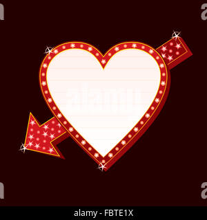 Neon heart - Stock Photo