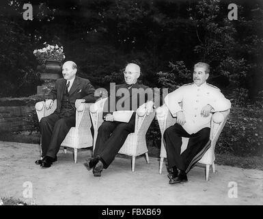 The Potsdam Conference Josef Stalin Harry S Truman Winston Stock