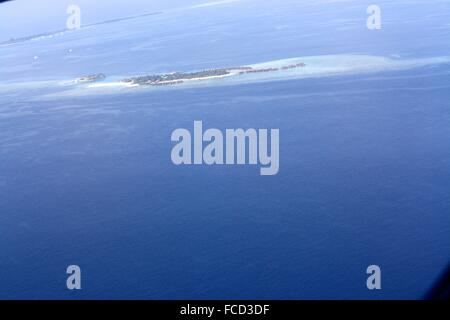 Panoramic View From The Airplane Window - Stock Photo