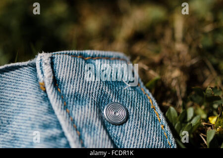 Extreme Close Up Of Denim - Stock Photo
