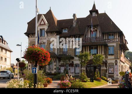 Villers sur mer, Normandy, France Butcher and female ...