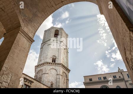 Cathedral in honor of the Archangel Michael. Monte Sant´Angelo, Apulia. Italy - Stock Photo