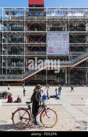 Pompidou Centre, Paris, France - Stock Photo