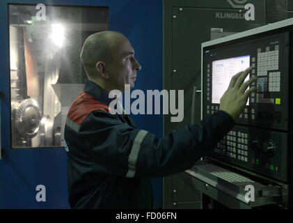 minsk belarus 26th jan 2016 workers assembling tractors in a stock photo royalty free image. Black Bedroom Furniture Sets. Home Design Ideas