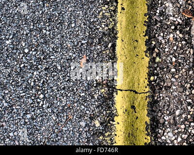 Full Frame Shot Of Street With Road Marking - Stock Photo