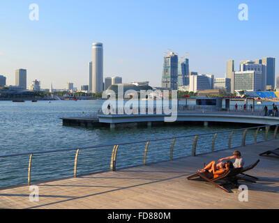 Olympic Walk, Marina Bay, Singapore, Asia - Stock Photo