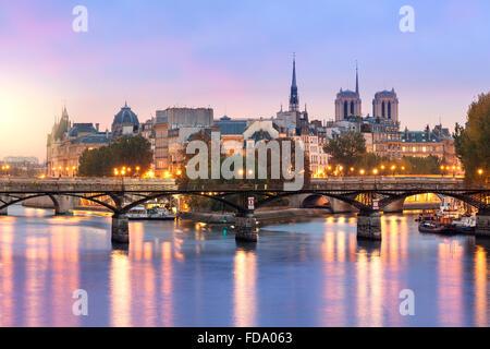 Paris at sunrise - Stock Photo