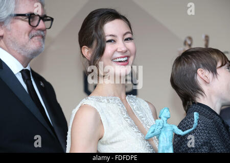 Los Angeles, CA, USA. 30th January, 2016.Actress Kimiko Glenn poses in the press room of the 22nd Annual Screen - Stock Photo