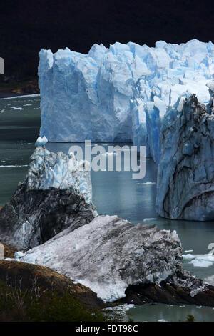Perito Moreno glacier, Lago Argentino, Los Glaciares National Park, Patagonia, Argentina - Stock Photo