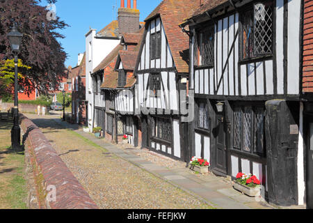 Rye, Sussex. Medieval houses in Church Square, Rye, East Sussex, England, United Kingdom, UK, Great Britain, GB - Stock Photo