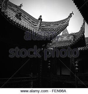 Low Angle View Of Chinese Temples - Stockfoto