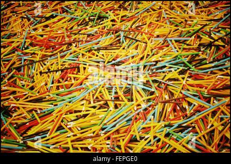 Full Frame Shot Of Pencils - Stockfoto