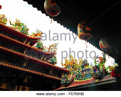 View Of Temple Roof - Stockfoto
