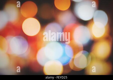 Full Frame Shot Of Defocused Lights - Stock Photo