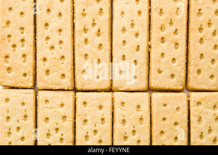 top view of sweet shortbread fingers - Stock Photo