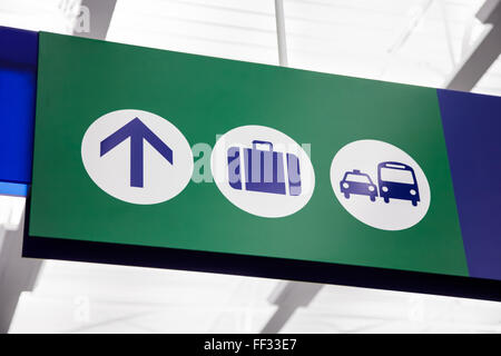 A Baggage Claim Sign Stock Photo Royalty Free Image