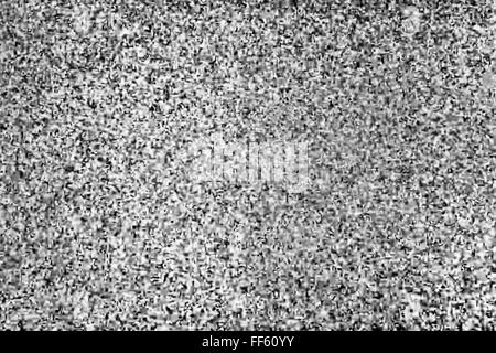 Tv screen with static noise, bad signal reception - Stock Photo