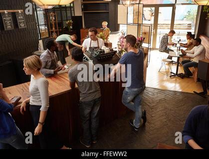Barista Coffee Shop Busy
