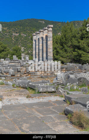 temple of athena, ruins of ancient priene, aydin province
