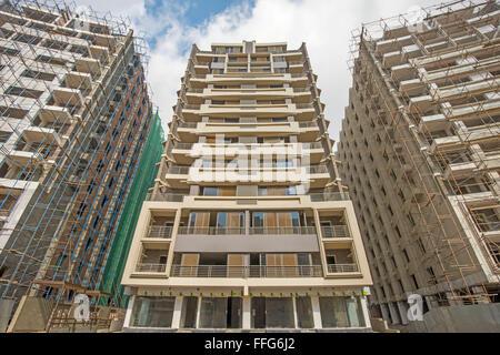 modern luxury high rise building, tel aviv, israel stock