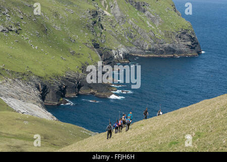 national trust for scotland work party st kilda - Stock Photo