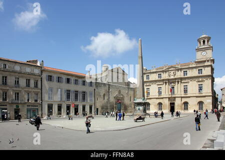 geography / travel, France, Arles, Place de la Republique, city hall, - Stock Photo