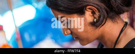 three worlds live within her - Stock Photo