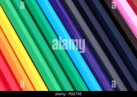 Full Frame Shot Of Colorful Pencils - Stockfoto