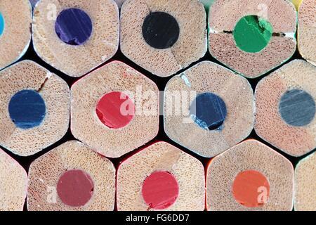 Full Frame Shot Of Multi Colored Pencils - Stockfoto