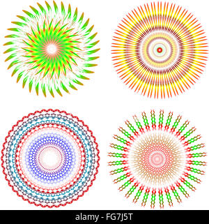 vector guilloche rosettes certificate or diplomas - Stock Photo
