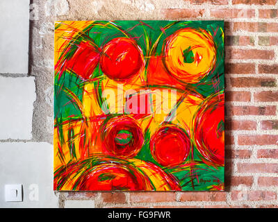Acrylic painting of fruits / sweets by Ed Buziak. - Stock Photo