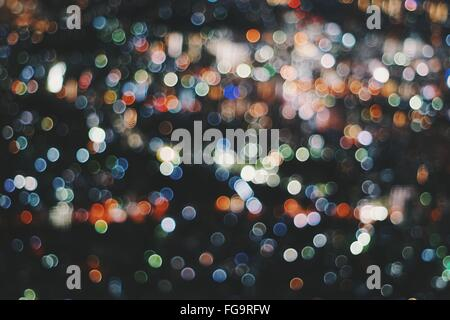 Full Frame Shot Of Multi Colored Defocused Lights - Stock Photo
