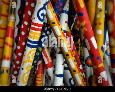 Full Frame Shot Of Colored Pencils - Stockfoto