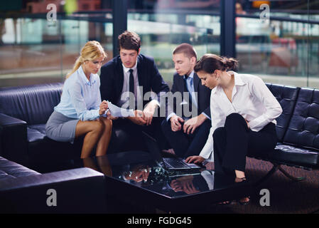 business people in a meeting at office - Stock Photo