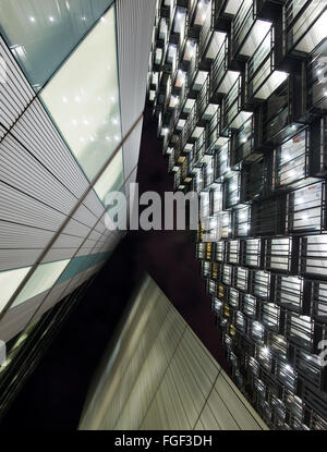 Looking up at Buildings at More London Place, London England UK - Stock Photo