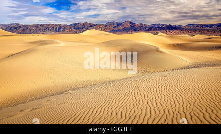The mesquite flat sand dunes in Death Valley National Park - Stockfoto